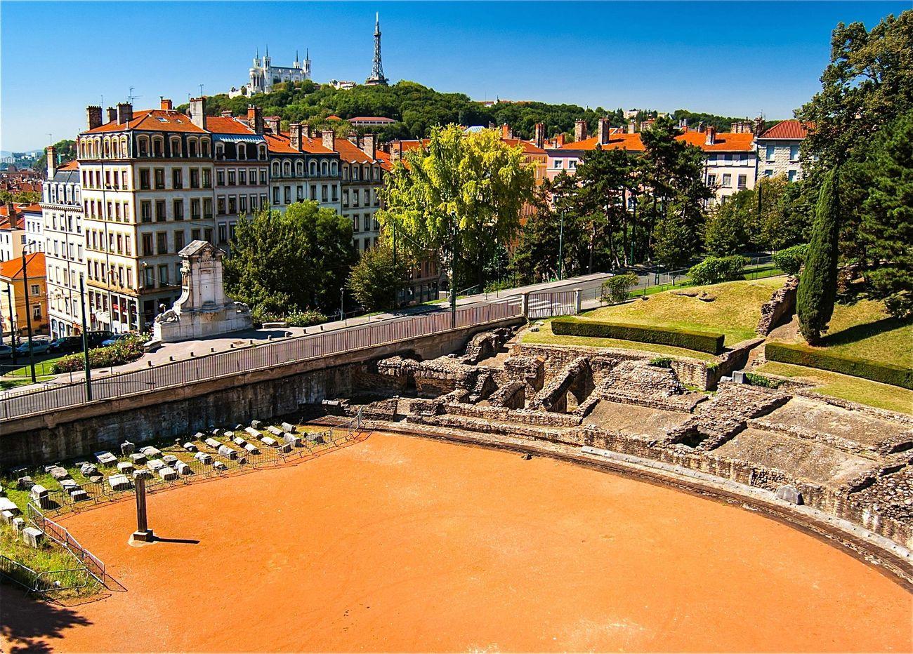 L'amphithéâtre des Trois Gaules à Lyon dans le quartier de la Croix-Rousse.