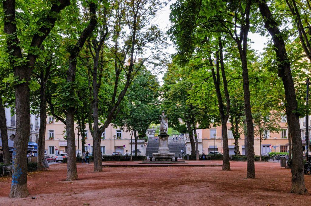 La place sathonay à Lyon