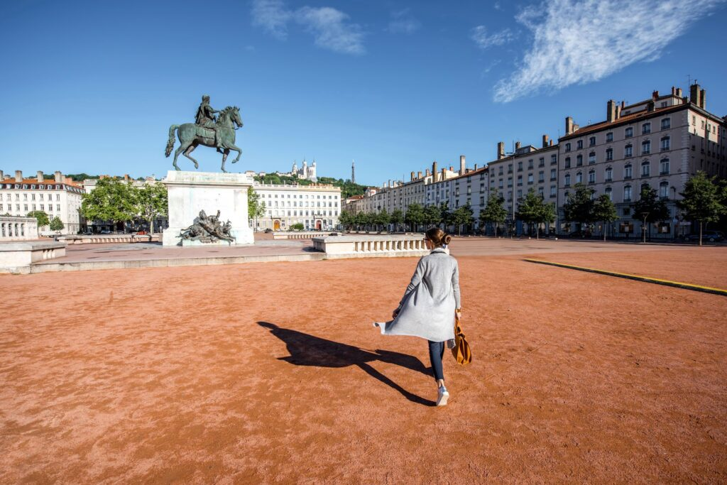 Les statues de la Place Bellecour