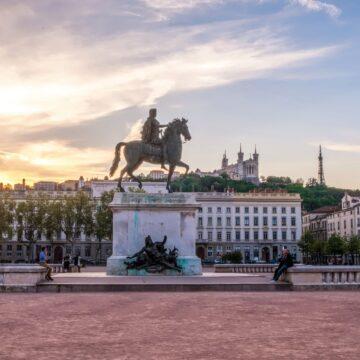 La Place Bellecour à Lyon, la troisième plus grande place de France