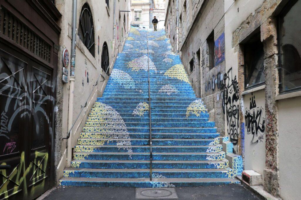 L'escalier Mermet à Lyon