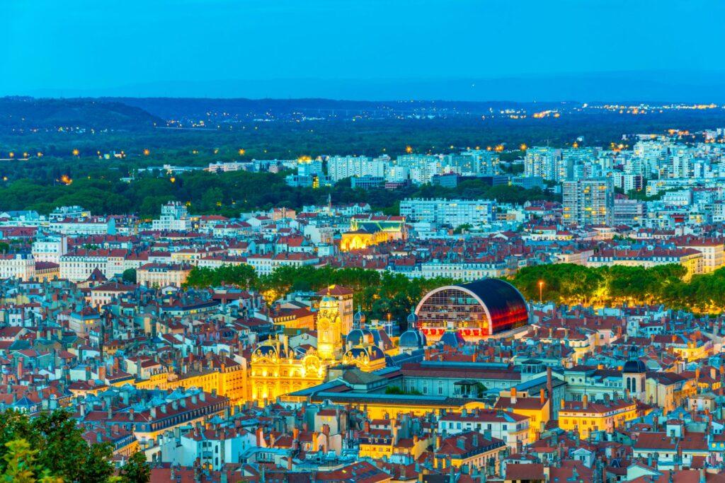 Vue sur le Rooftop de l'Opéra à Lyon