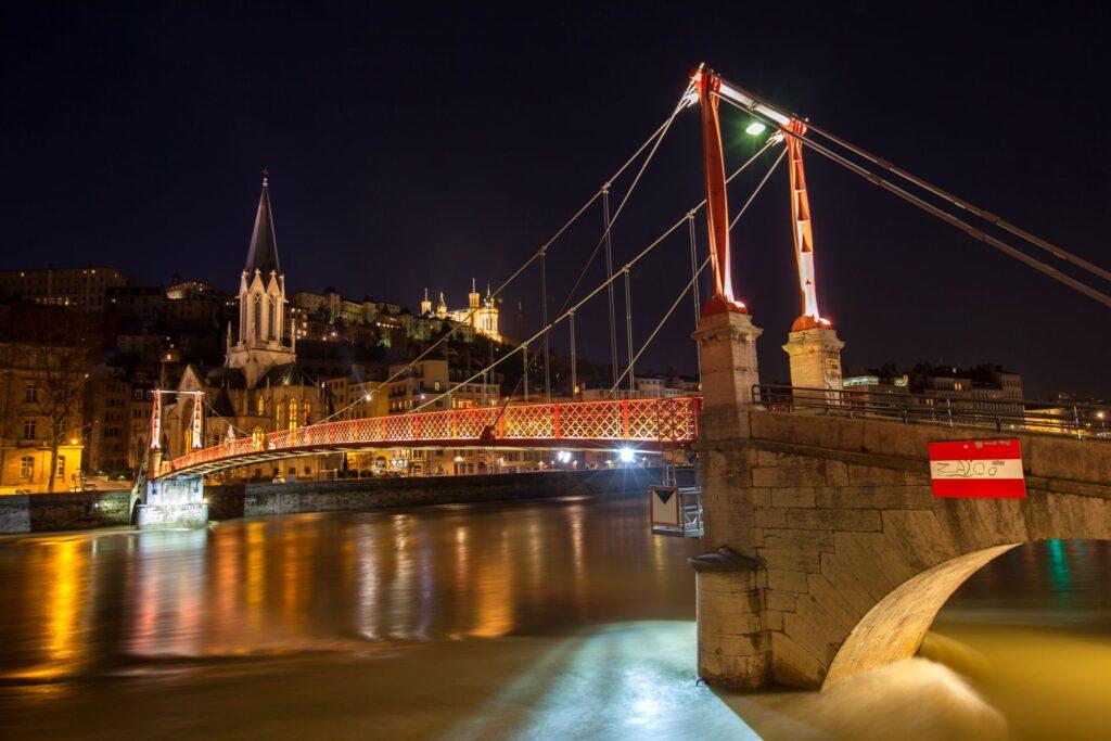 La passerelle Paul Couturier à Lyon